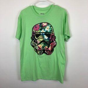 Star Wars Storm Trooper Helmet Green Tshir…